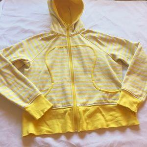Lululemon Scuba Hoodie size 12 Yellow Stripe